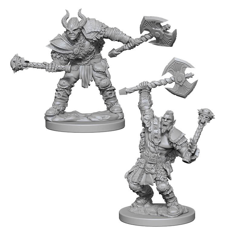 Pathfinder: Deep Cuts Unpainted Miniatures: Half-Orc Male Barbarian - Imaginary Adventures