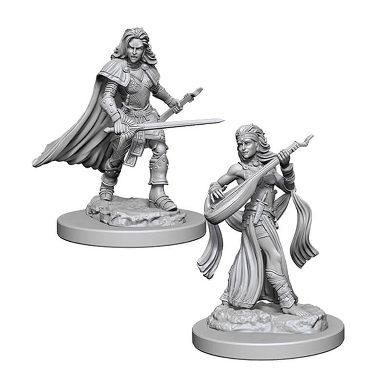 Pathfinder: Deep Cuts Unpainted Miniatures: Human Female Bard - Imaginary Adventures