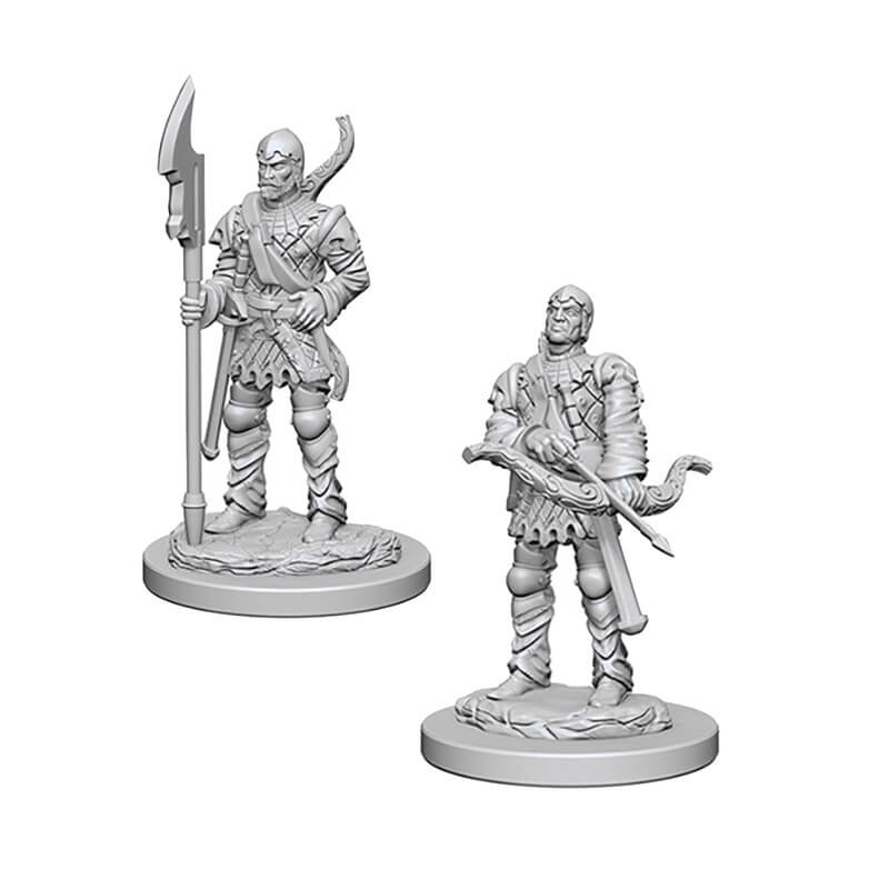 Pathfinder: Deep Cuts Unpainted Miniatures: Town Guards - Imaginary Adventures