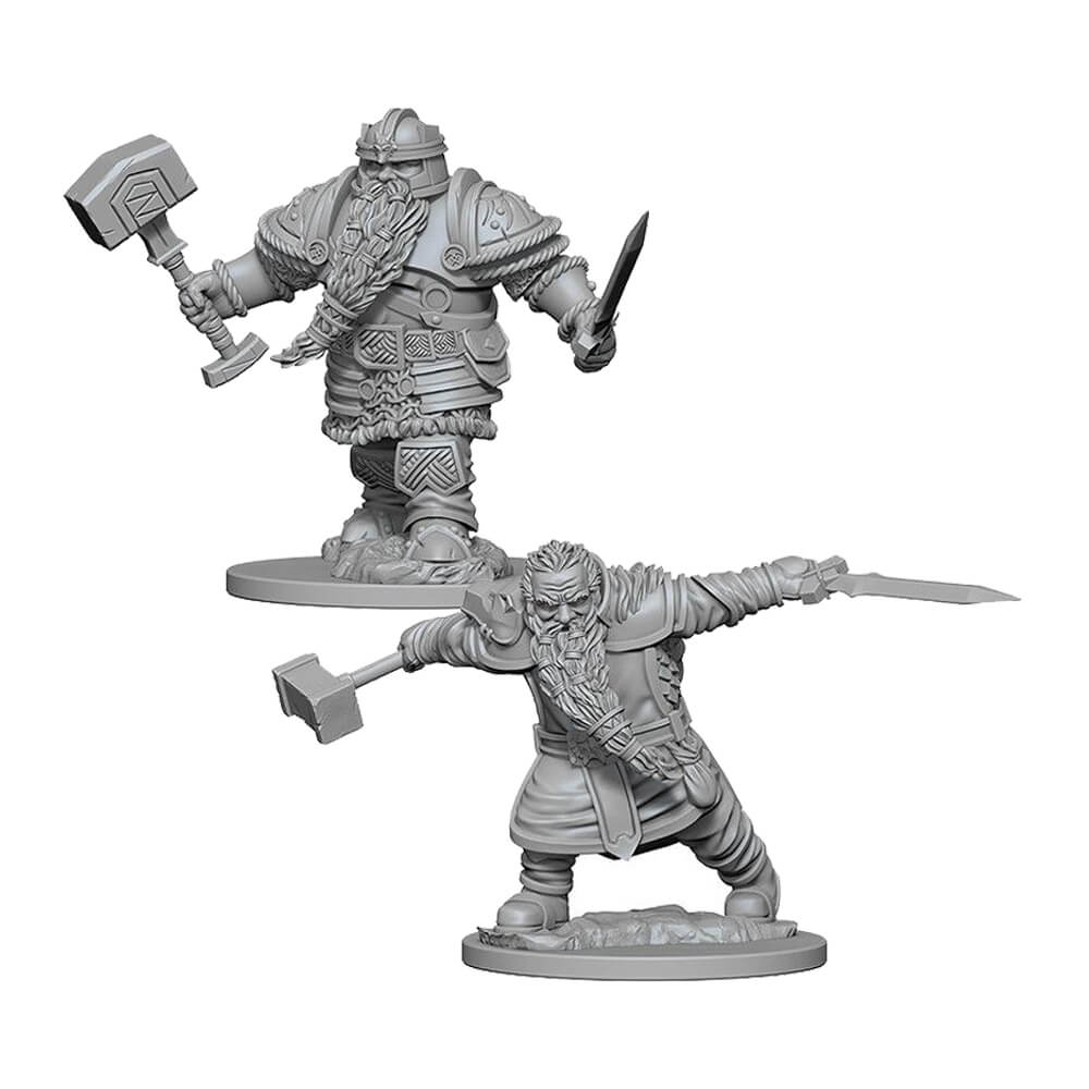 Nolzur's Marvelous Unpainted Minis - Dwarf Male Fighter - Imaginary Adventures