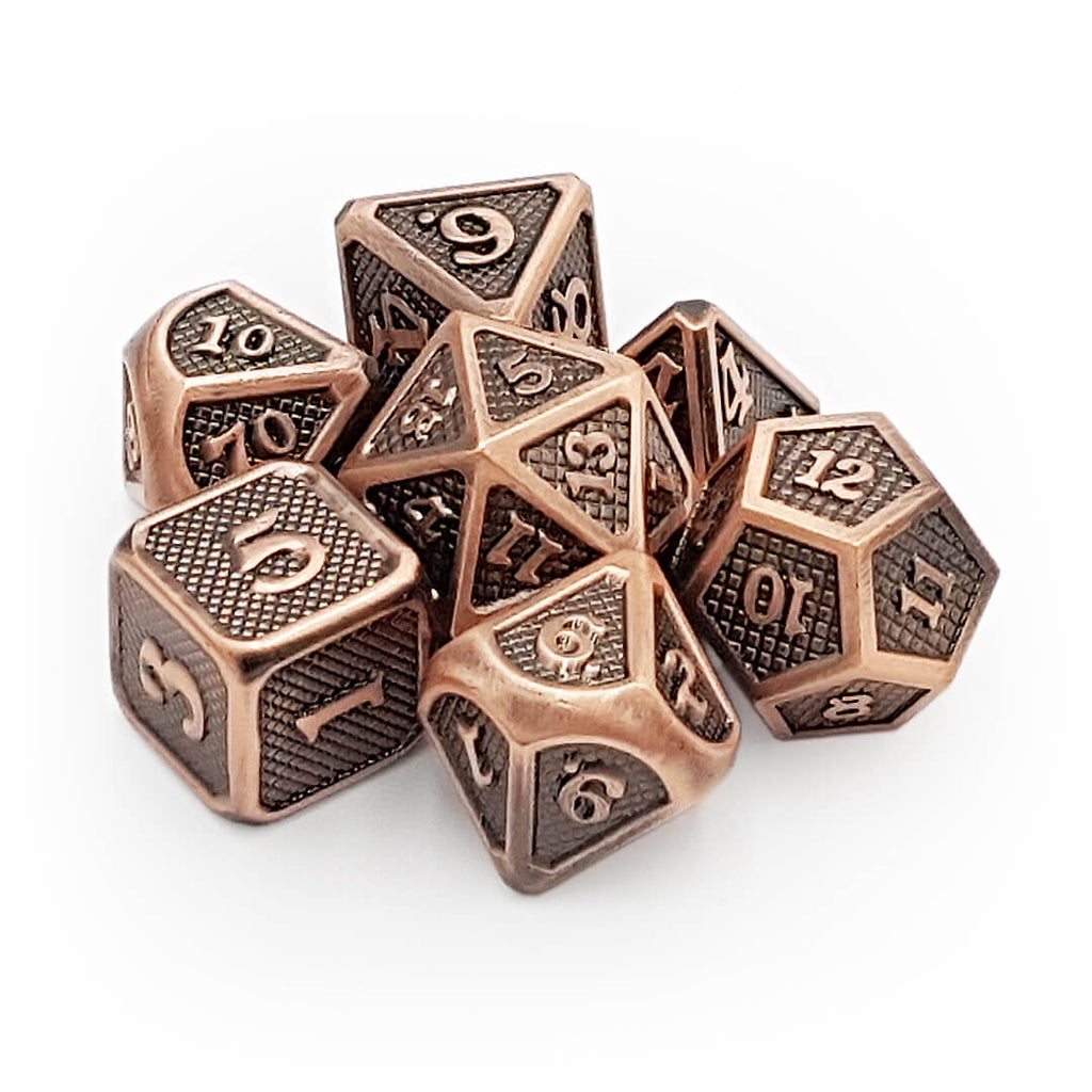 Copper Dragon Scale Metal Dice Set - Imaginary Adventures
