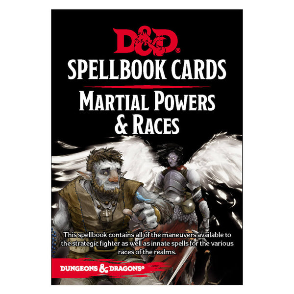 D&D Spellbook Cards Martial Powers & Races Deck - Imaginary Adventures