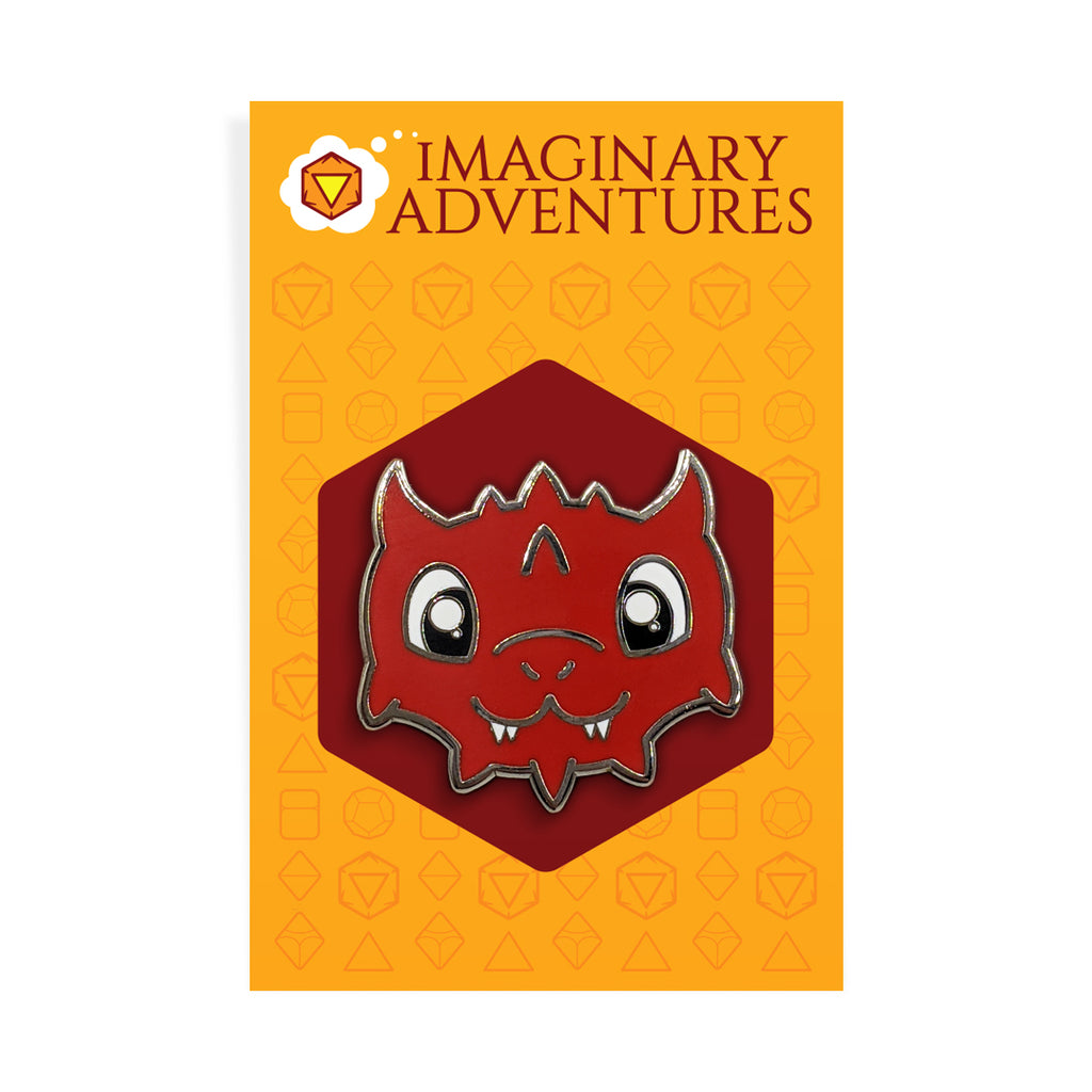 Red Dragon Enamel Pin - Imaginary Adventures