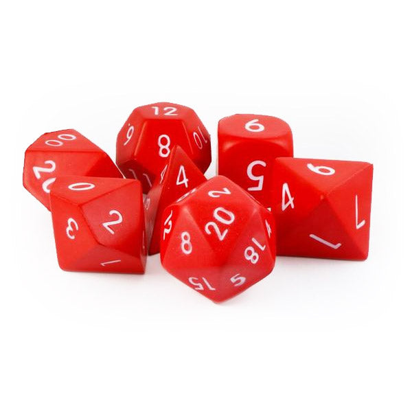 Squishy Foam 7 Dice Set - Red