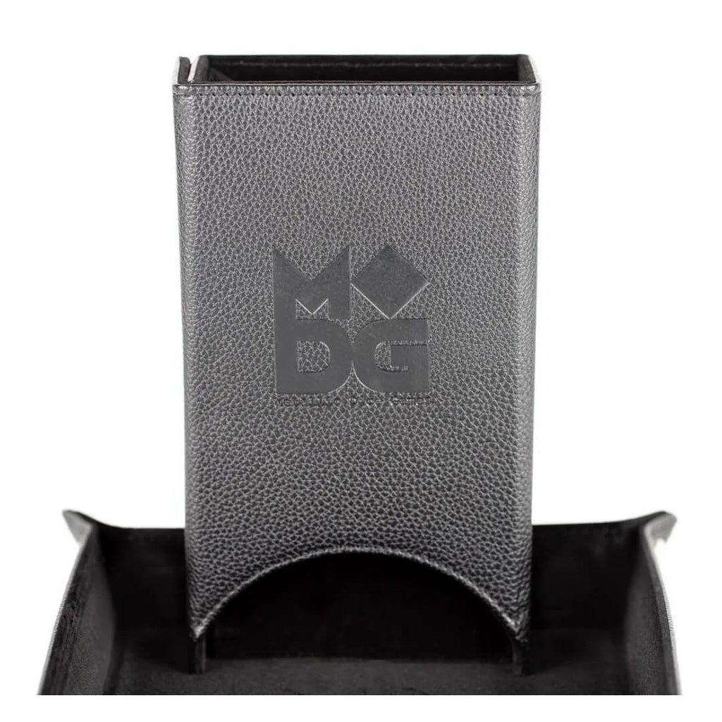 MDG Black Fold Up Leather Dice Tower - Imaginary Adventures