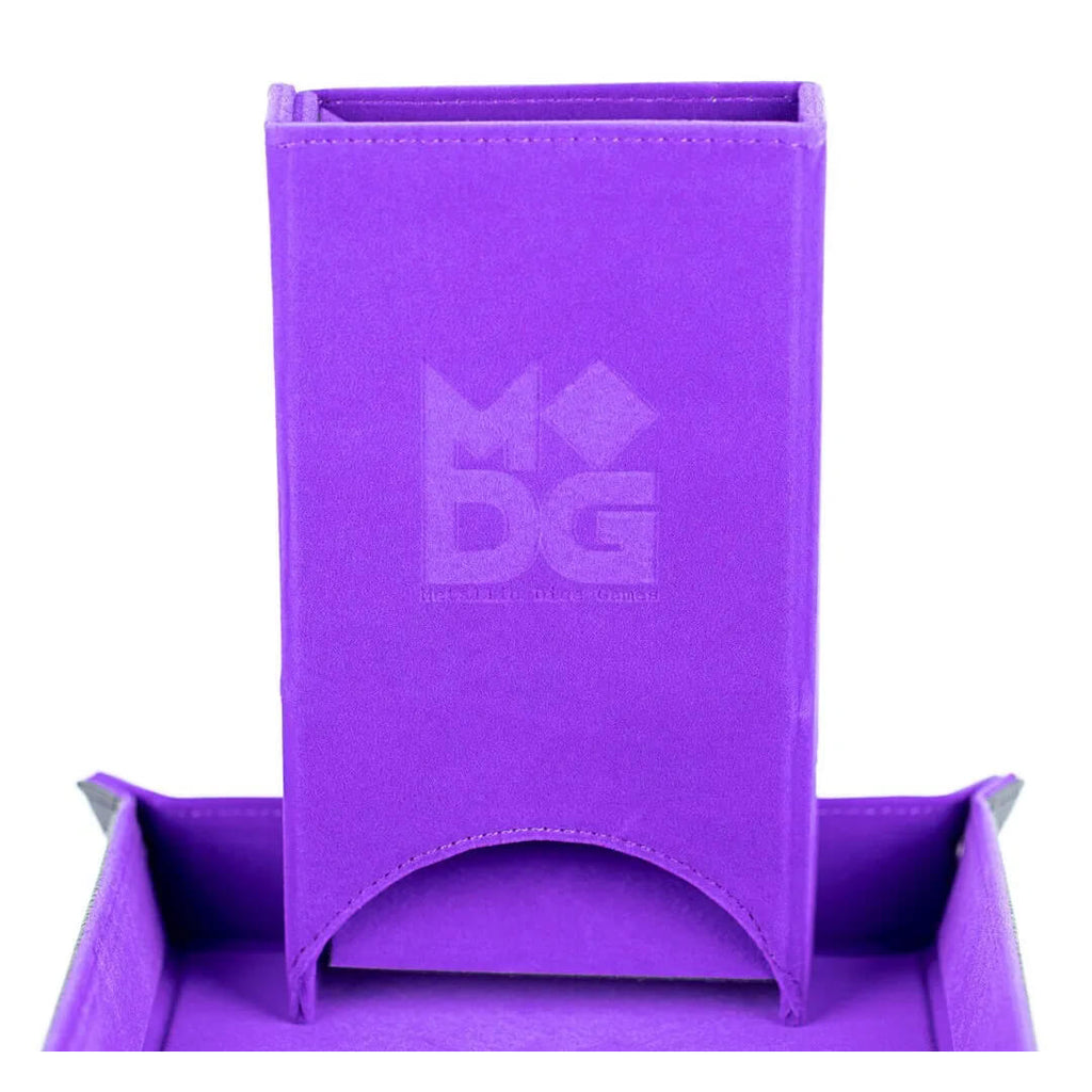 MDG Purple Velvet Fold Up Dice Tower - Imaginary Adventures