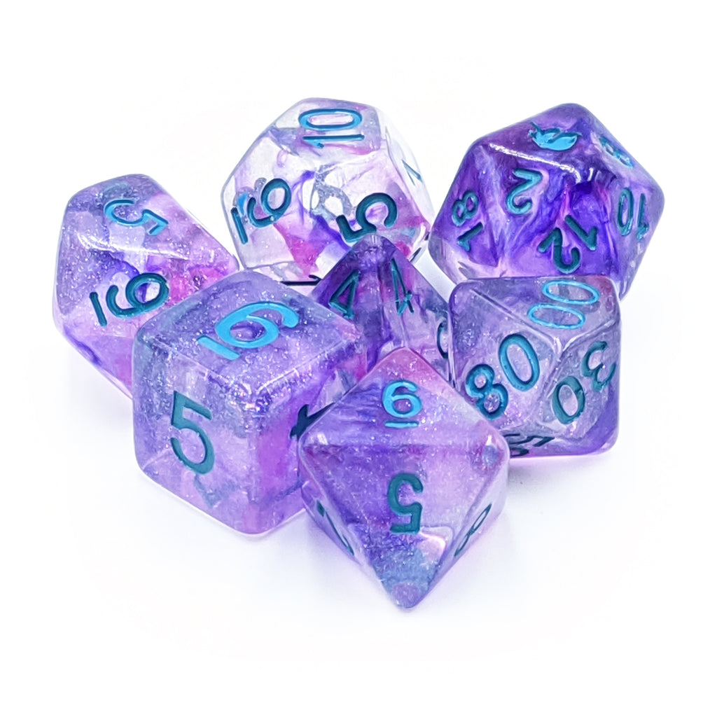 MDG Violet Infusion Unicorn Dice Set - Imaginary Adventures