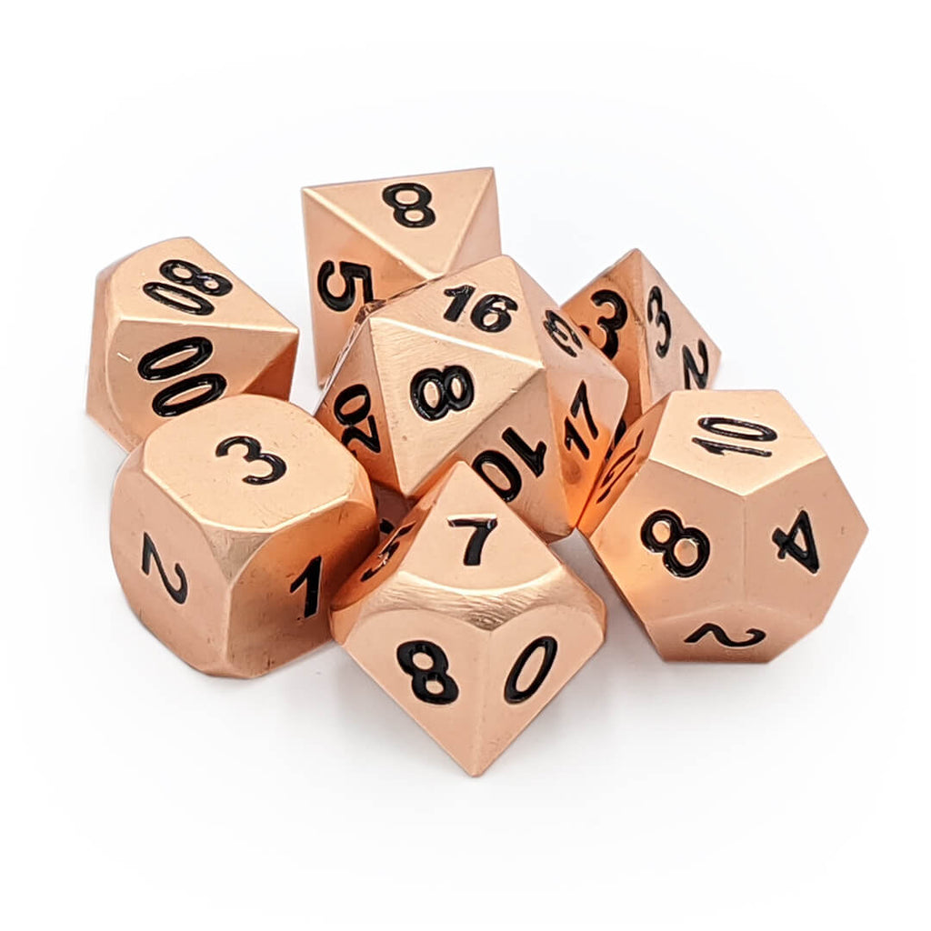 Metal 7 Dice Set - Copper - Imaginary Adventures