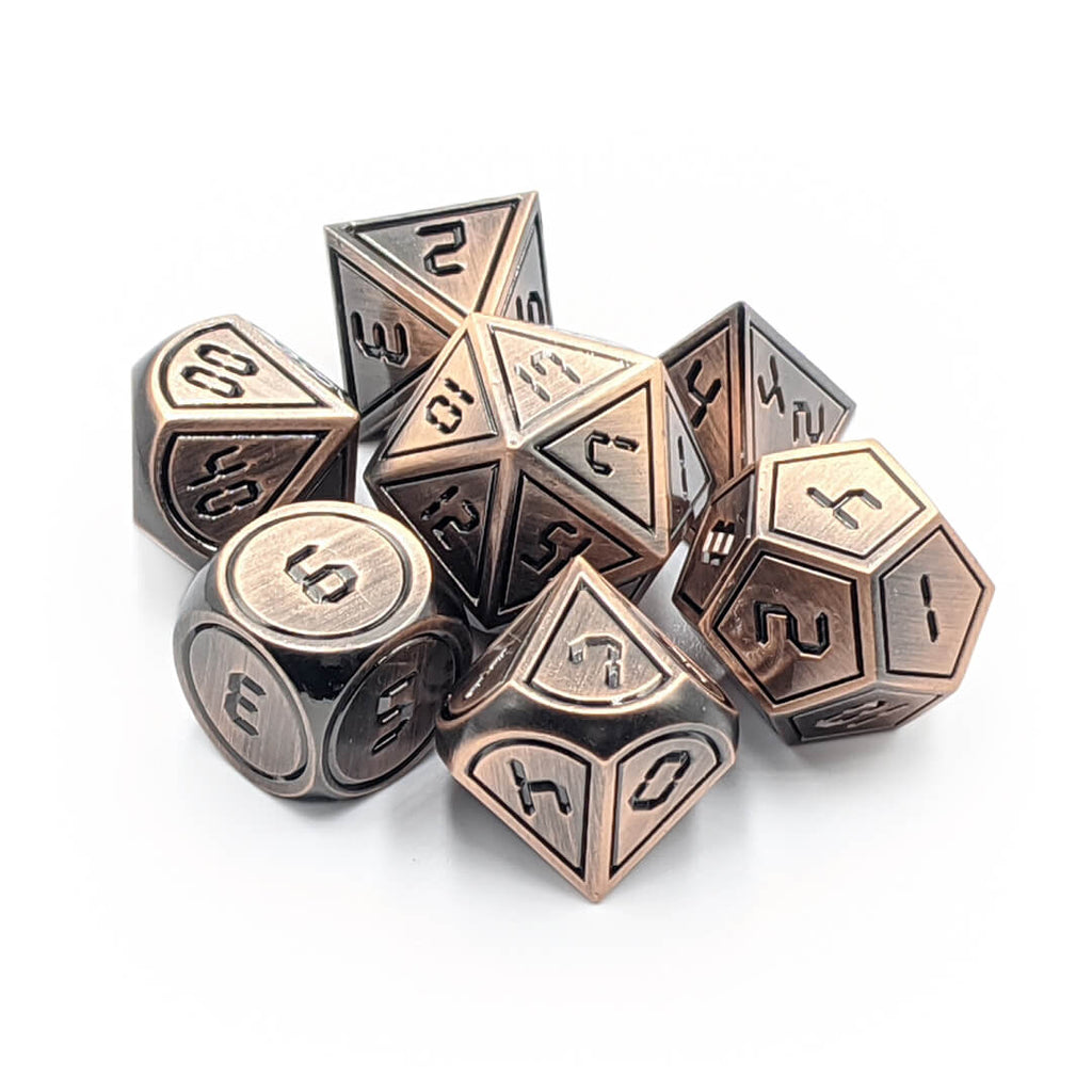 Metal 7 Dice Set - Digital - Old Copper - Imaginary Adventures