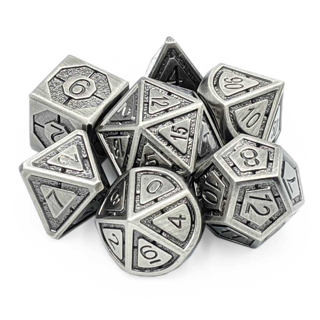 Imperial Old Silver Metal Dice Set - Imaginary Adventures