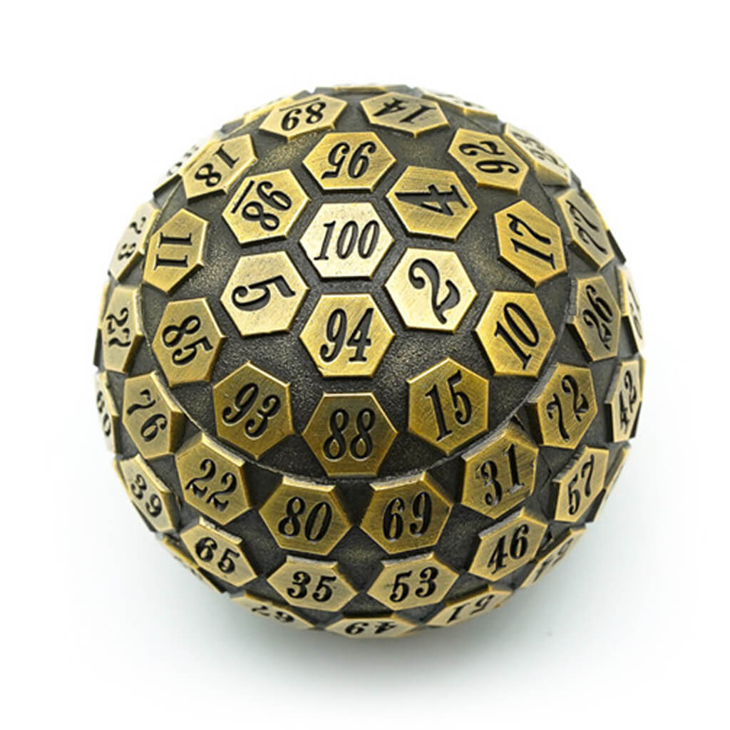Old Gold Metal d100