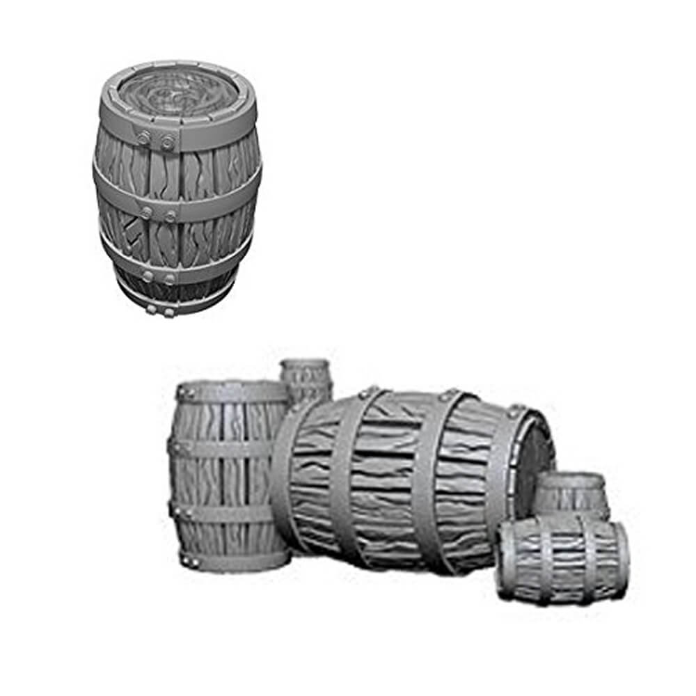 Pathfinder: Deep Cuts Unpainted Miniatures: Barrel & Pile of Barrels - Imaginary Adventures
