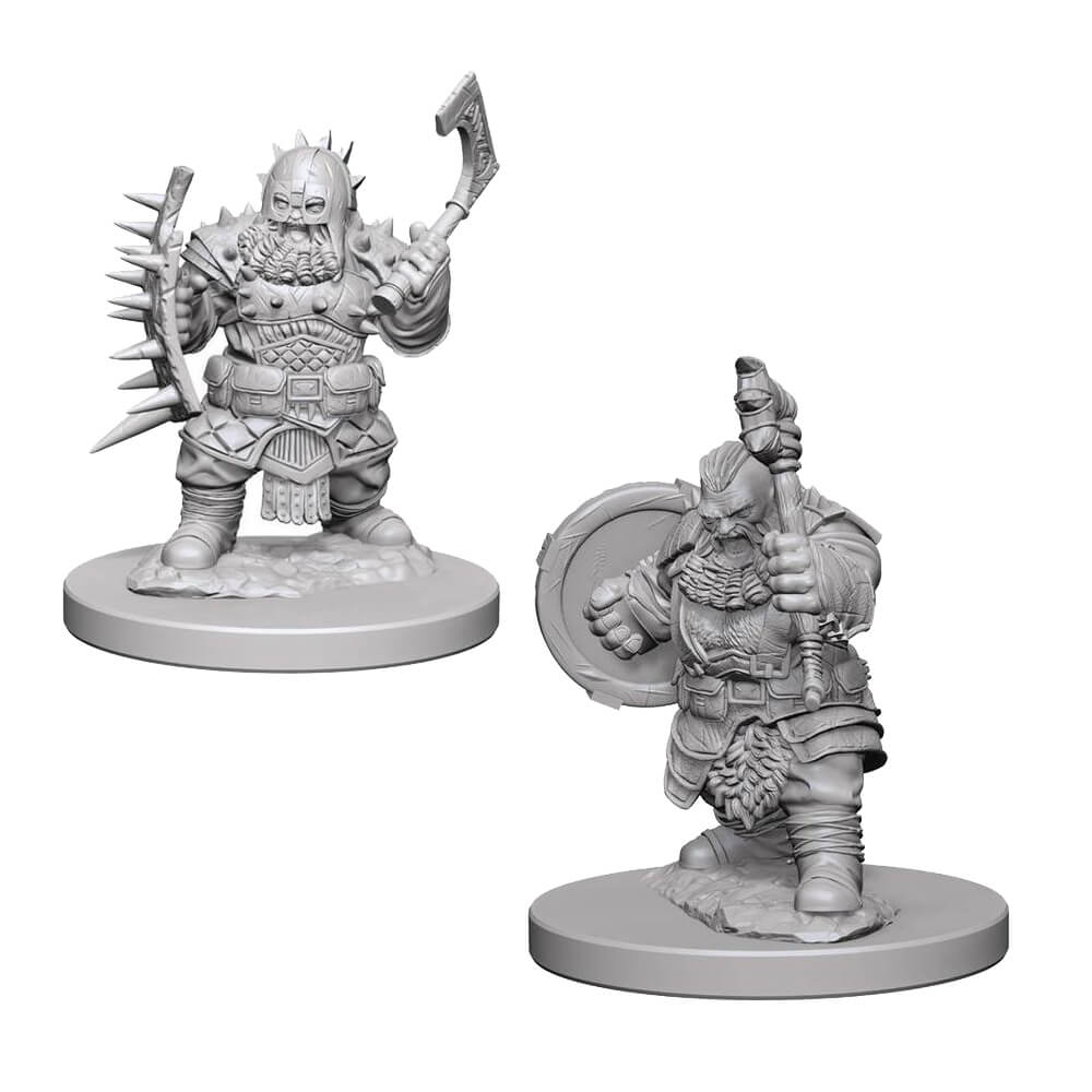 Pathfinder: Deep Cuts Unpainted Miniatures: Dwarf Male Barbarian - Imaginary Adventures