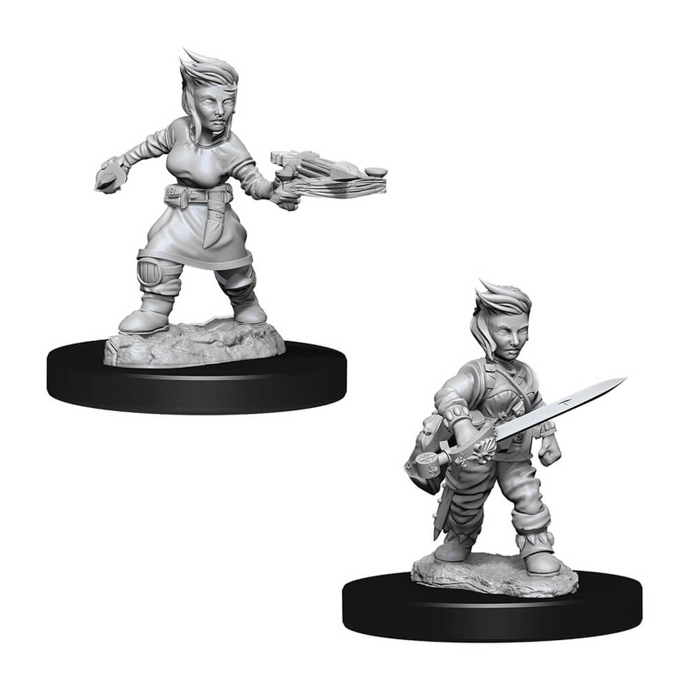 Pathfinder Minis - Female Halfling Rogue - Imaginary Adventures
