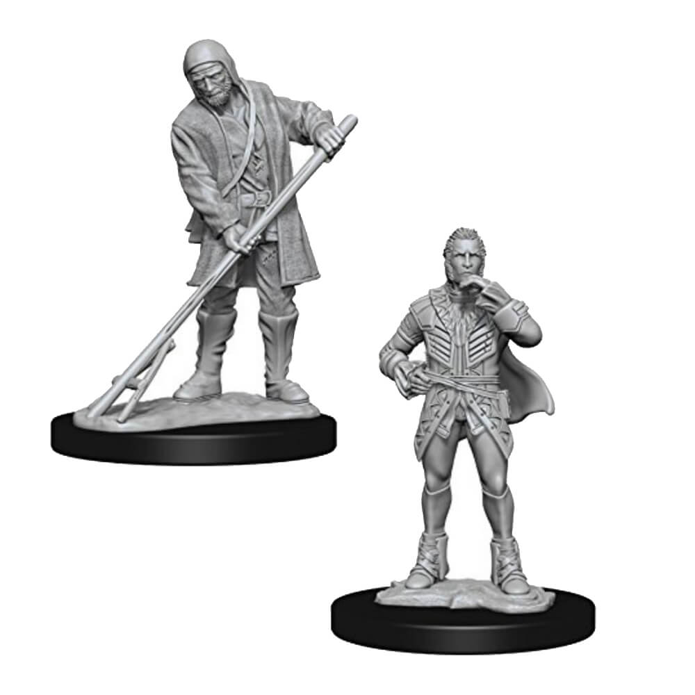 Pathfinder: Deep Cuts Unpainted Miniatures: Townspeople - Imaginary Adventures