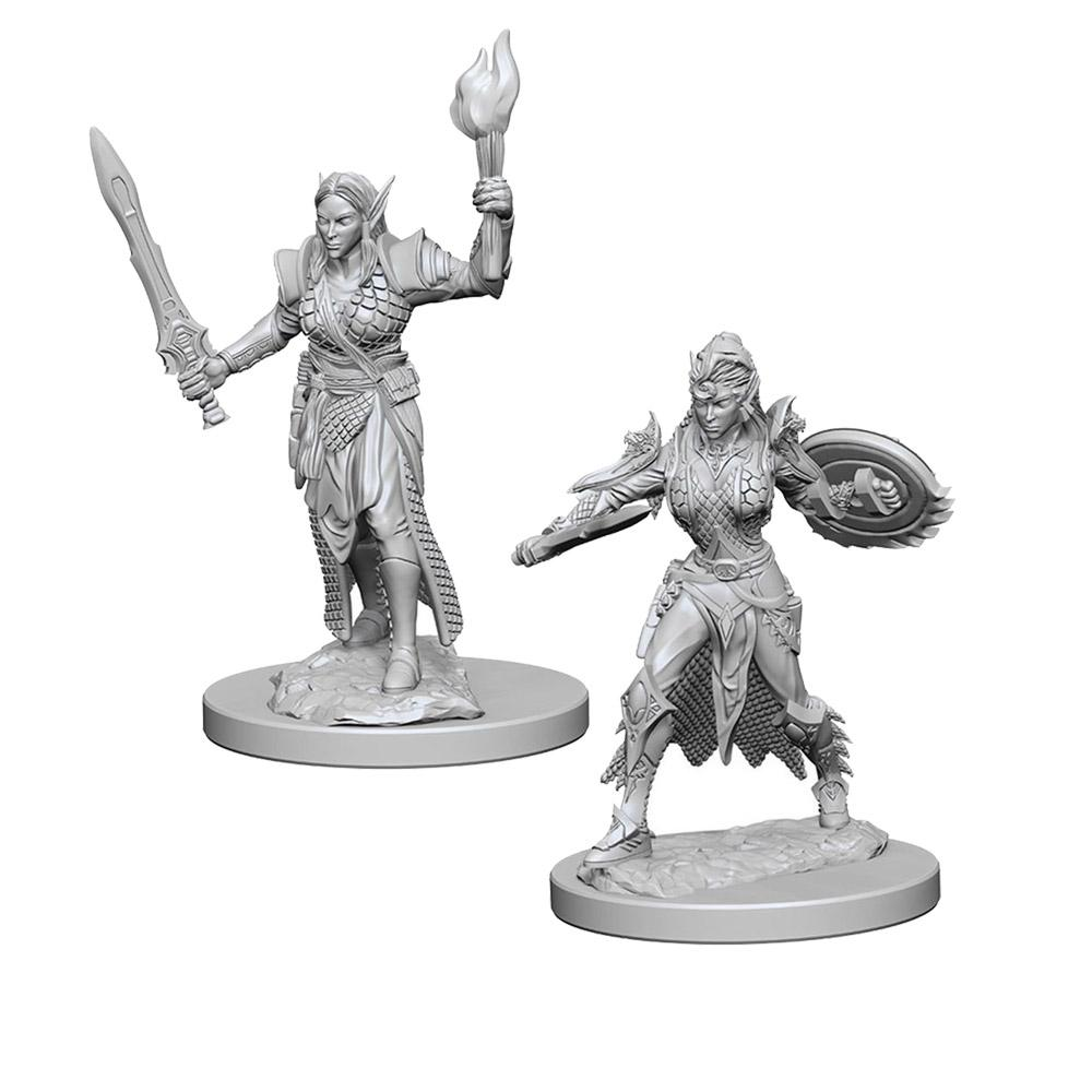 Pathfinder: Deep Cuts Unpainted Miniatures: Elf Female Fighter - Imaginary Adventures