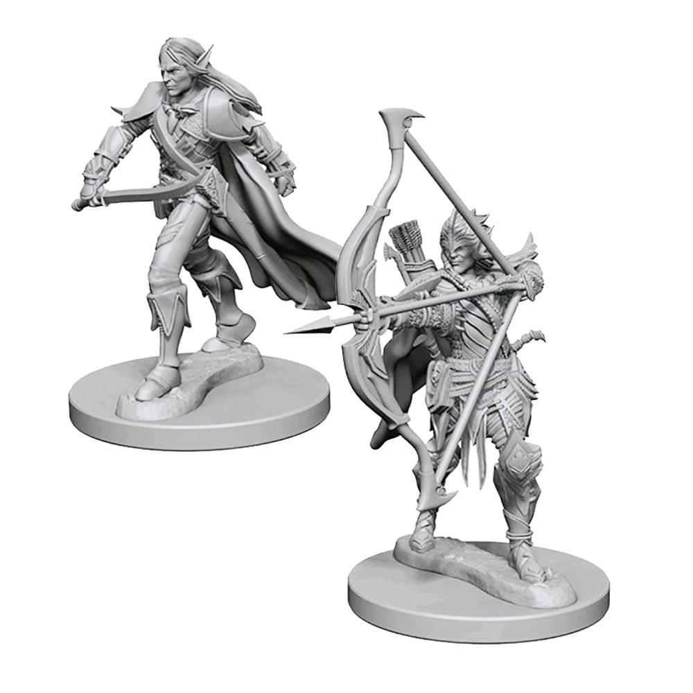 Pathfinder: Deep Cuts Unpainted Miniatures: Elf Male Fighter - Imaginary Adventures