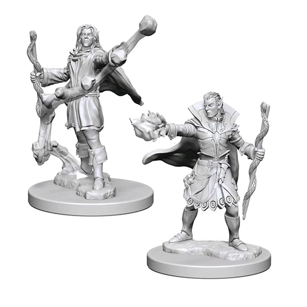 Pathfinder: Deep Cuts Unpainted Miniatures: Elf Male Sorcerer - Imaginary Adventures