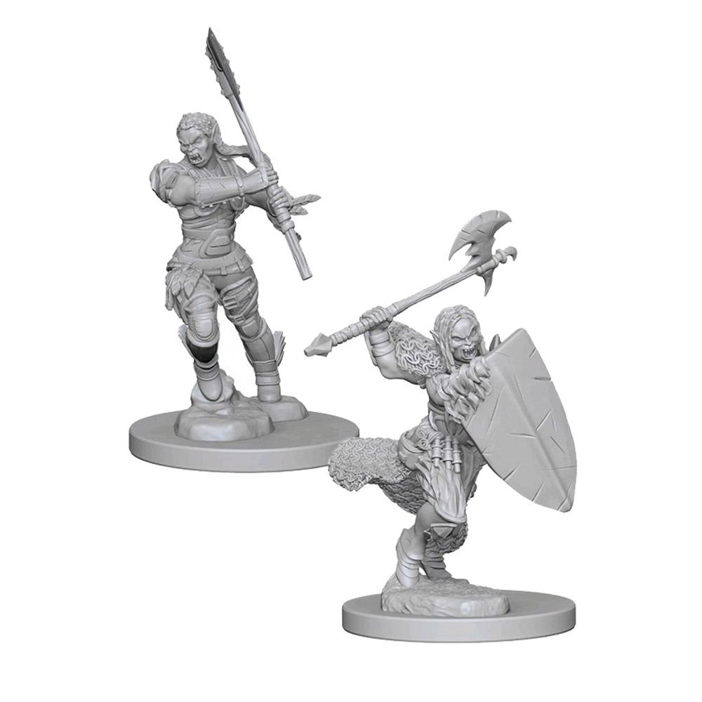 Pathfinder Minis - Half Orc Female Barbarian - Imaginary Adventures