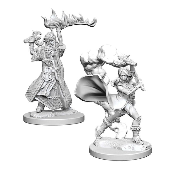 Pathfinder: Deep Cuts Unpainted Miniatures: Human Female Cleric - Imaginary Adventures