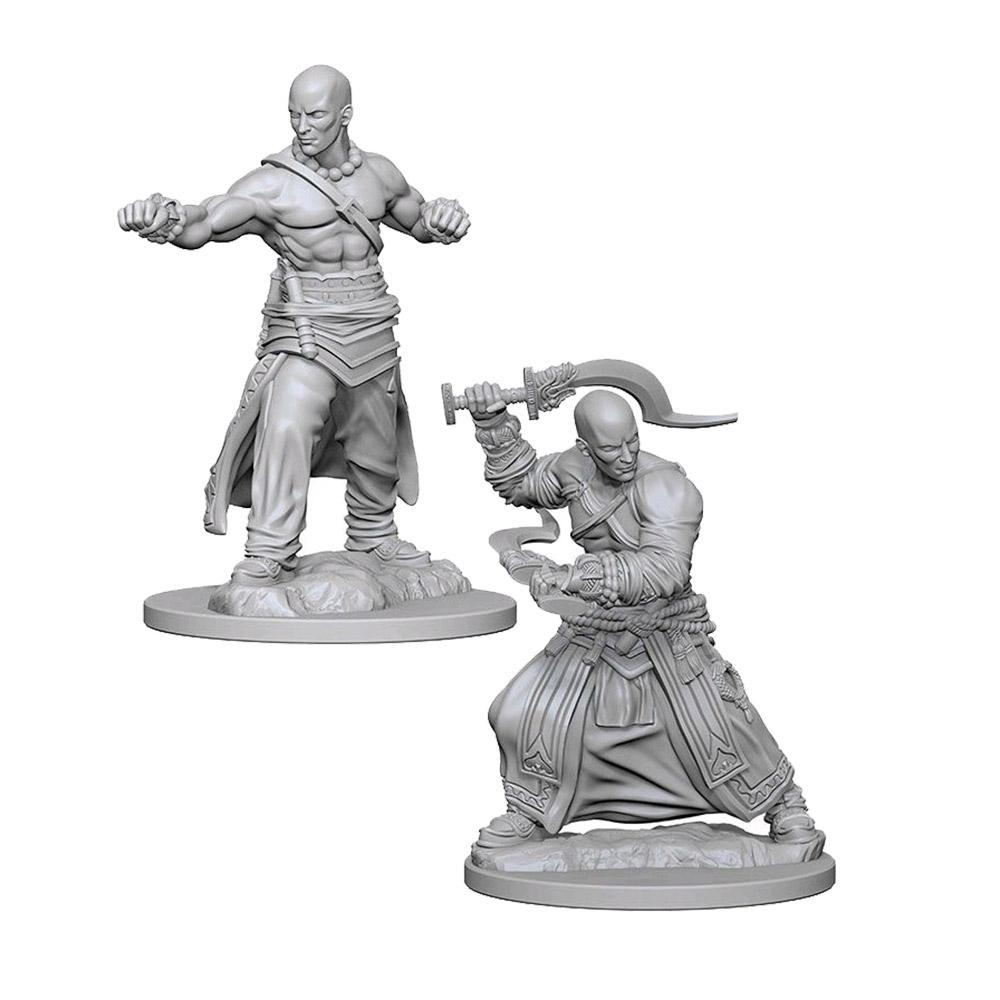 Pathfinder: Deep Cuts Unpainted Miniatures: Human Male Monk - Imaginary Adventures