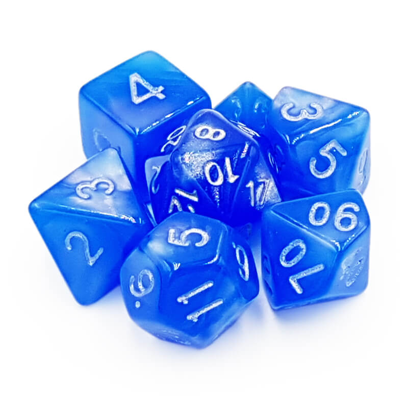 7 Dice Set - Moonstone - Imaginary Adventures