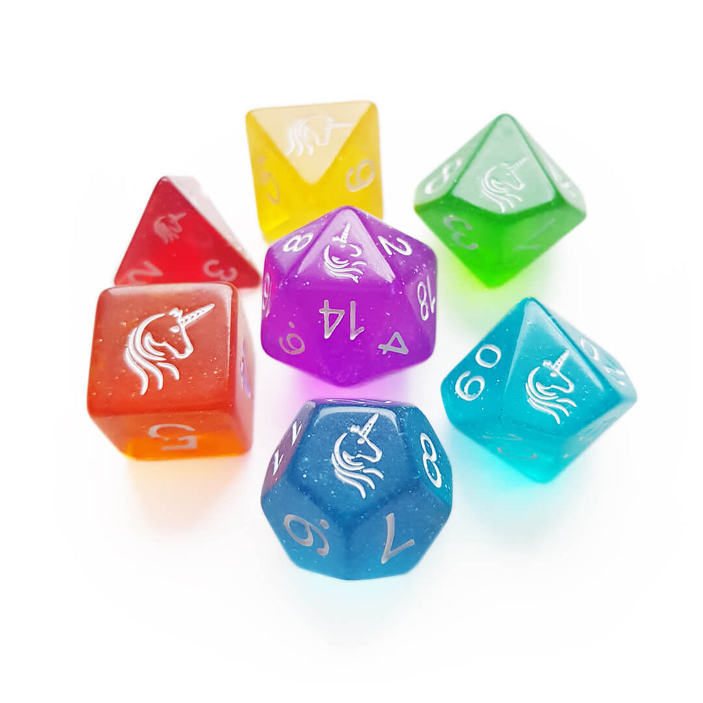 7 Dice Set - Unicorn - Imaginary Adventures