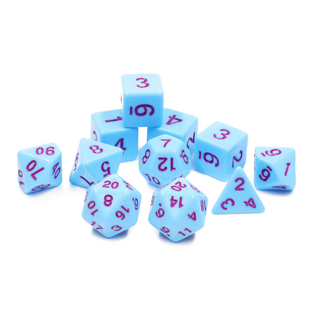 11 Dice Set - Bluejay