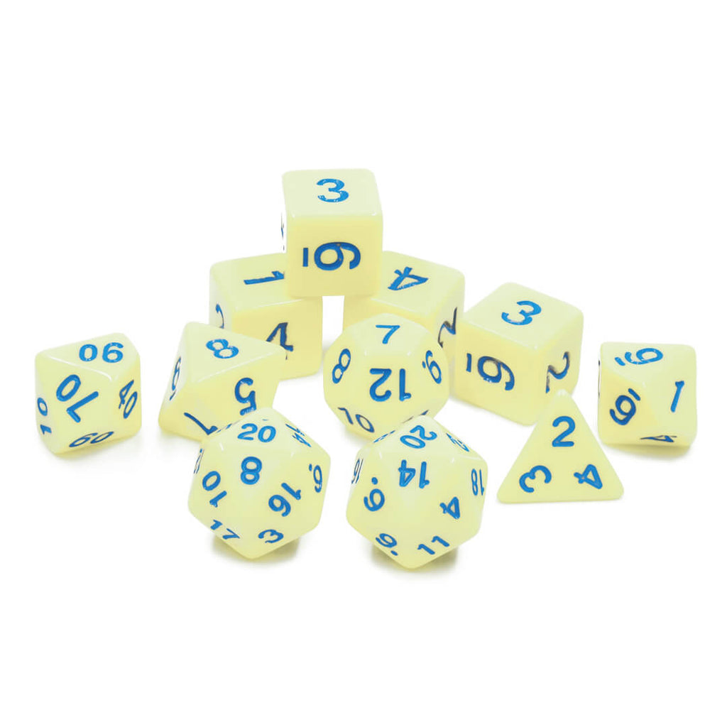 11 Dice Set - Eggshell