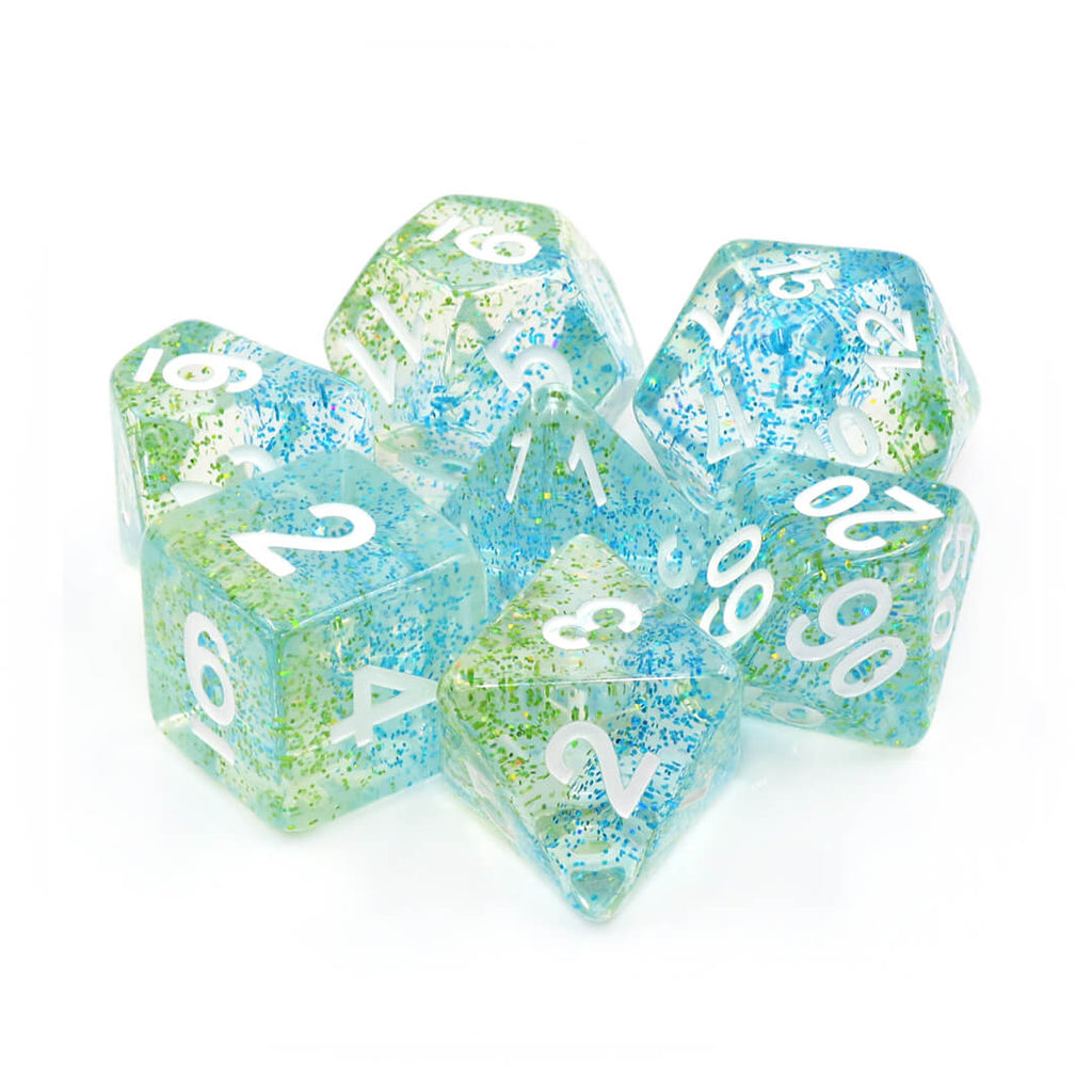 7 Dice Set - Blue Danube