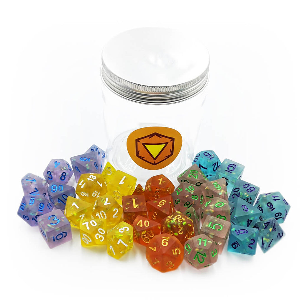 Frosted Mermaid Dice Jar Bundle - Imaginary Adventures