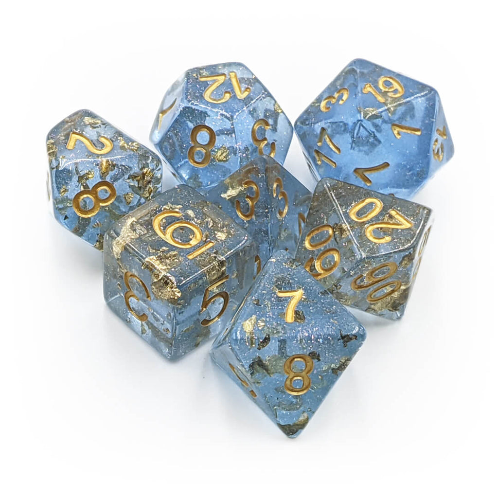 7 Dice Set - Gold Foil