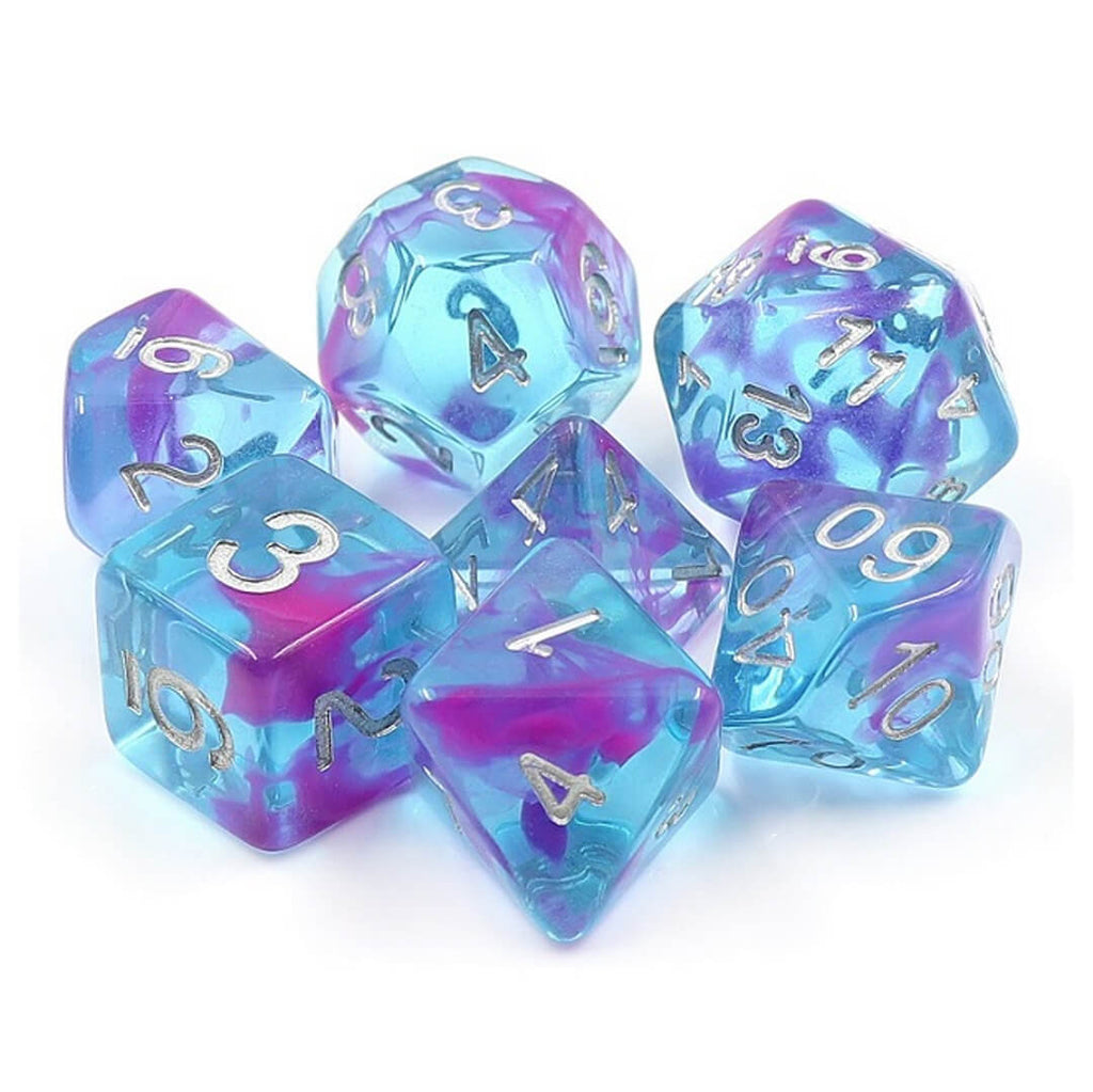 7 Dice Set - Aquarium Ribbon - Imaginary Adventures