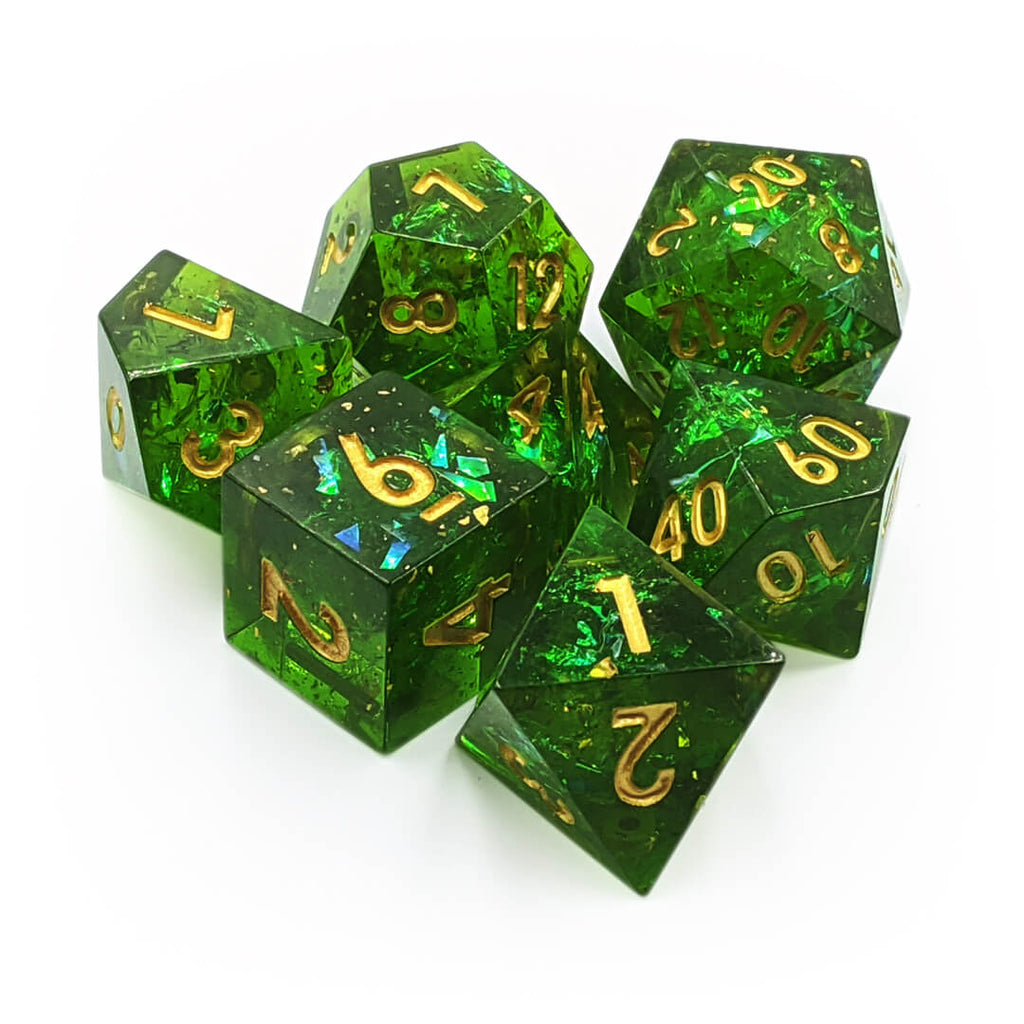 Sharp Edge 7 Dice Set - Fae Forest