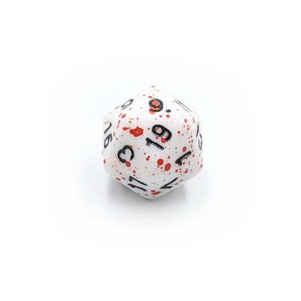 Individual d20 - Blood Splatter