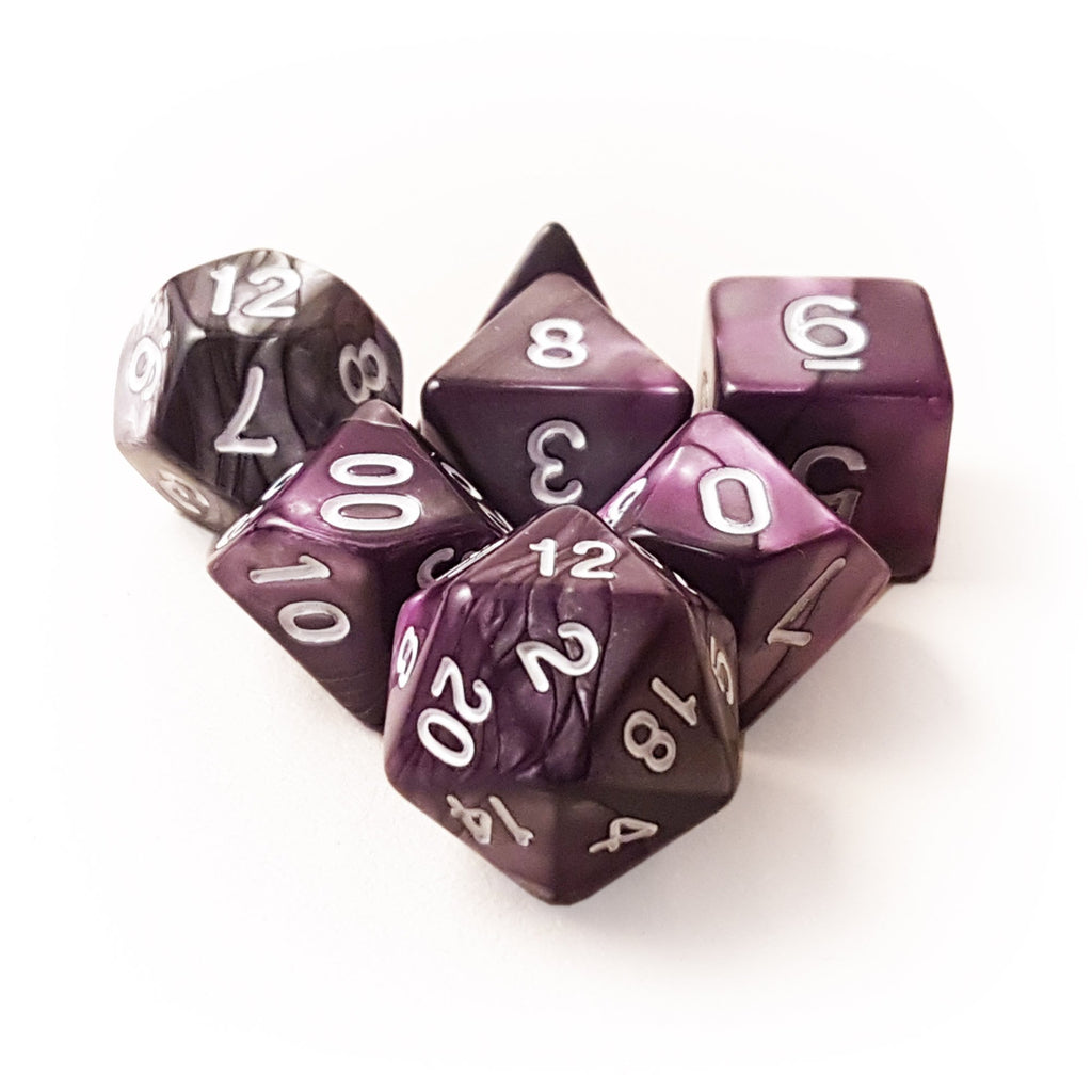7 Dice Set - Nebula - Metallic - Imaginary Adventures