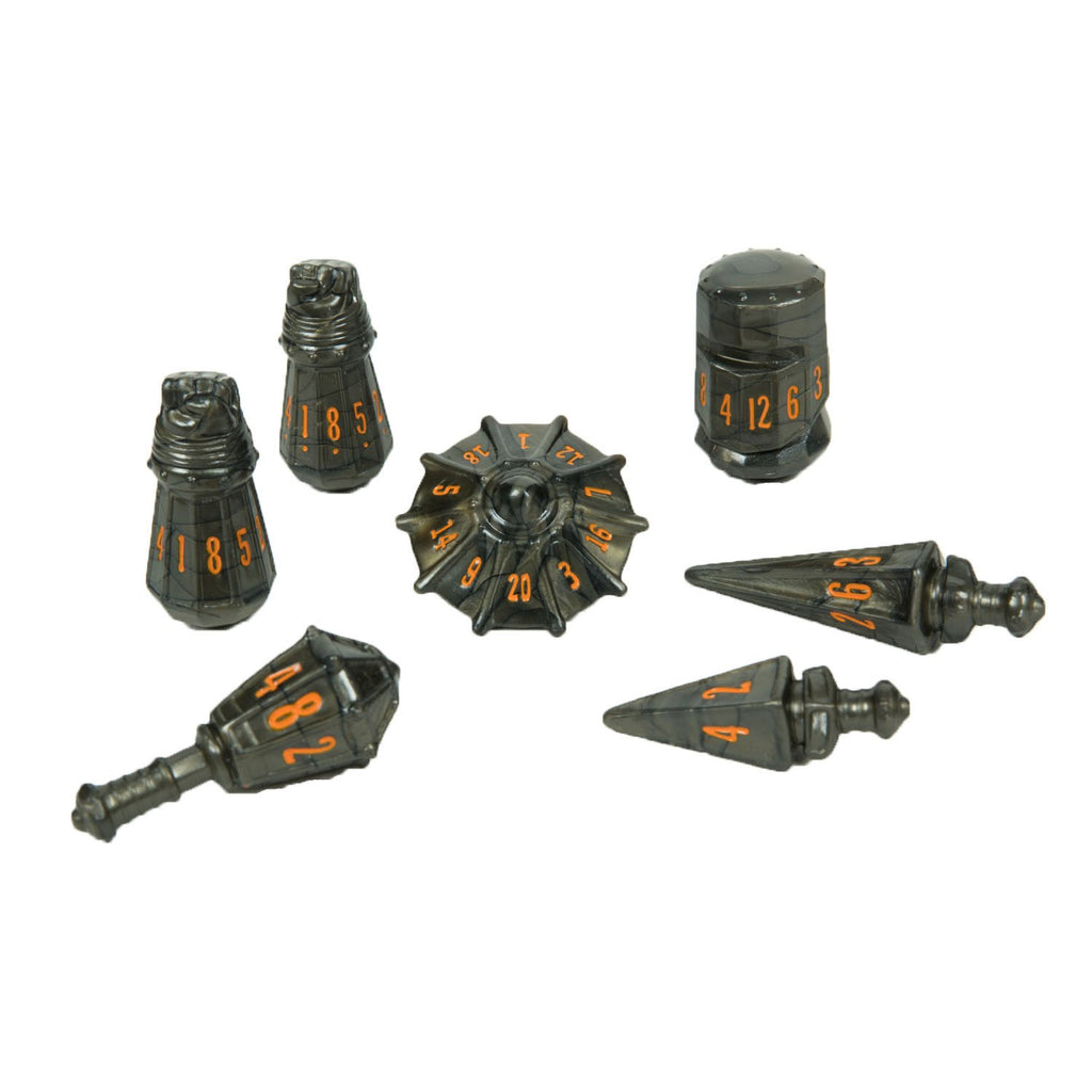 PolyHero Dice Warrior Set - Steel Grey - Imaginary Adventures