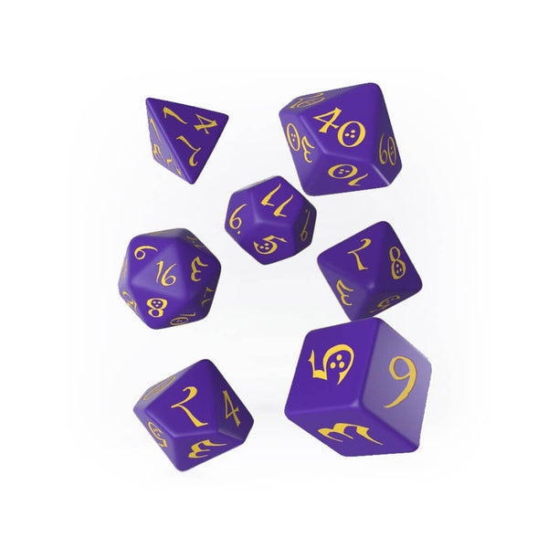 Q-workshop Classic 7 Dice Set - Purple & Yellow - Imaginary Adventures