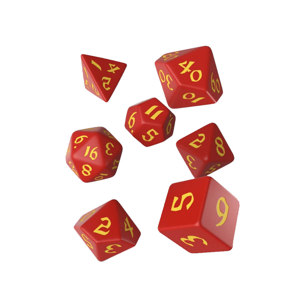 Q-Workshop Classic Runic Red & Yellow Dice Set - Imaginary Adventures