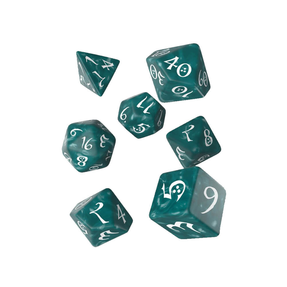 Q-workshop Classic 7 Dice Set - Stormy & White - Imaginary Adventures