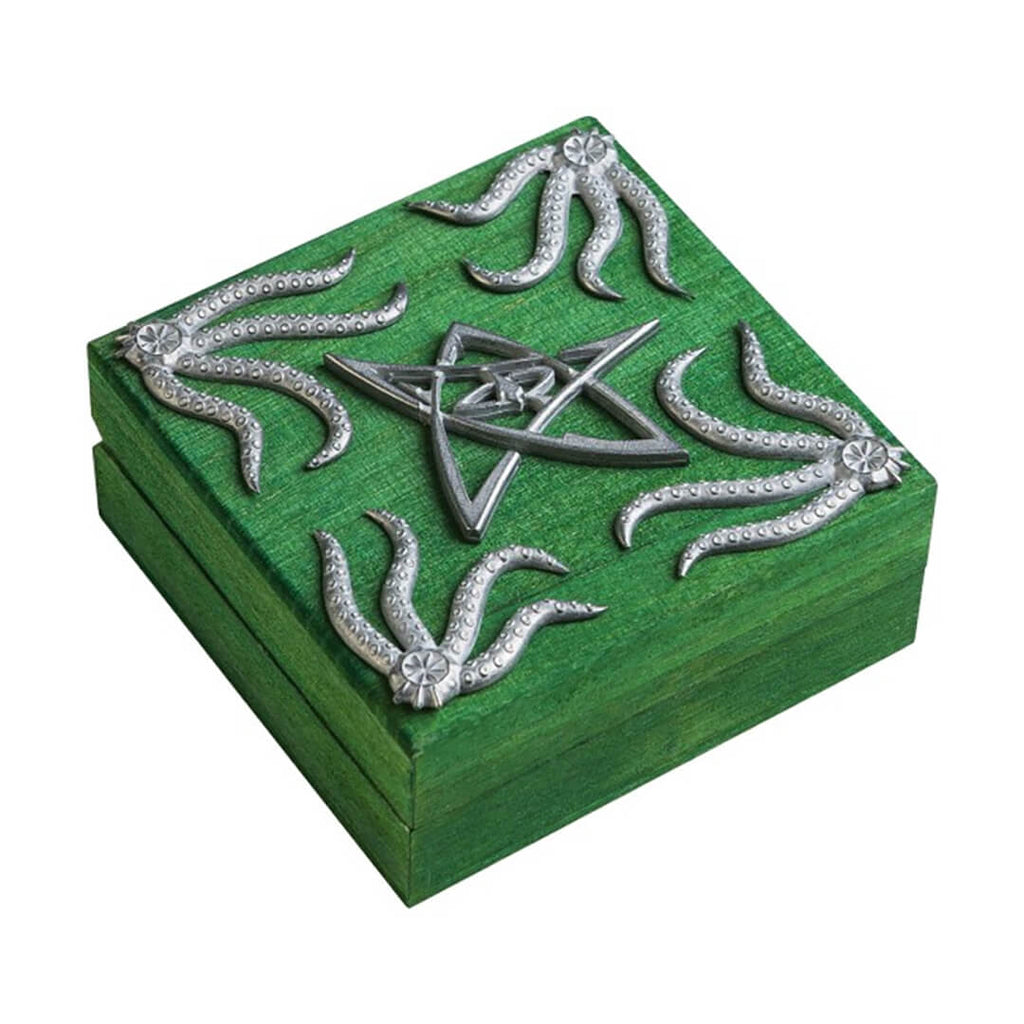 Q-Workshop Cthulhu Dice Chest - Green - Imaginary Adventures