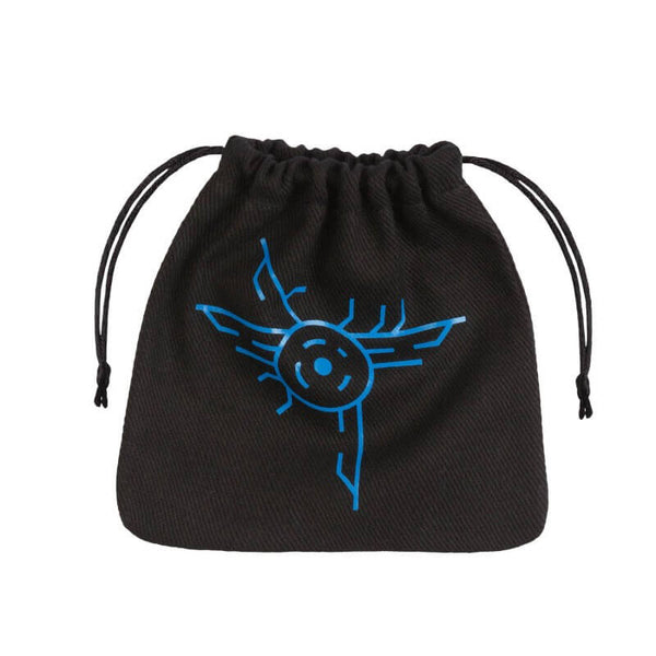 Q-Workshop Dice Bag - Galactic - Black & Blue - Imaginary Adventures