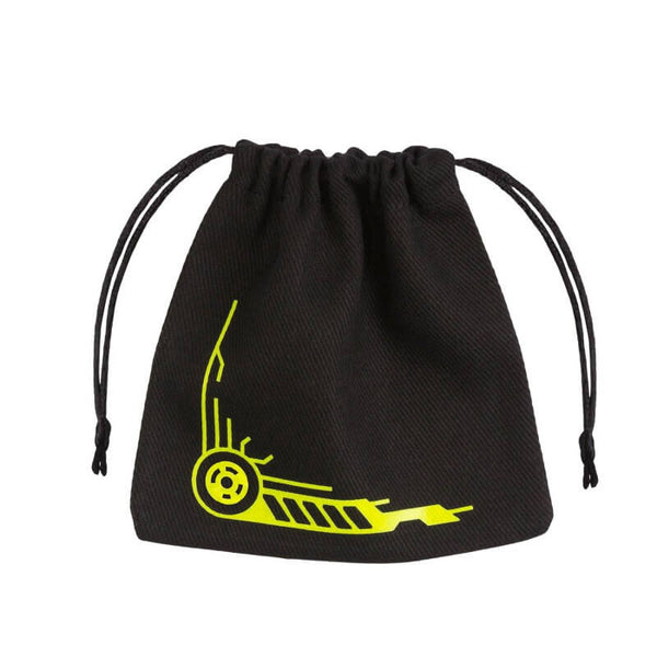 Q-Workshop Dice Bag - Galactic - Black & Yellow - Imaginary Adventures