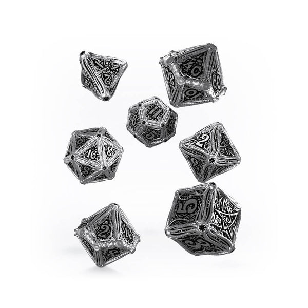 Q-workshop Metal Call of Cthulhu 7 Dice Set - Imaginary Adventures