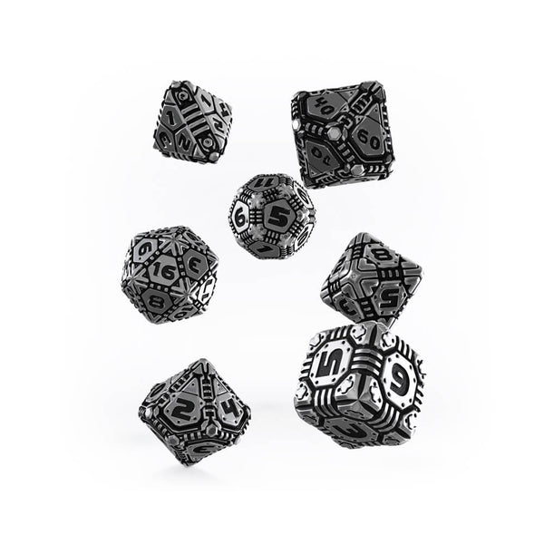 Q-workshop Metal Tech 7 Dice Set - Imaginary Adventures