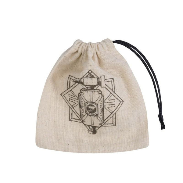 Basic Dice Bag - Dwarven - Beige & black - Imaginary Adventures