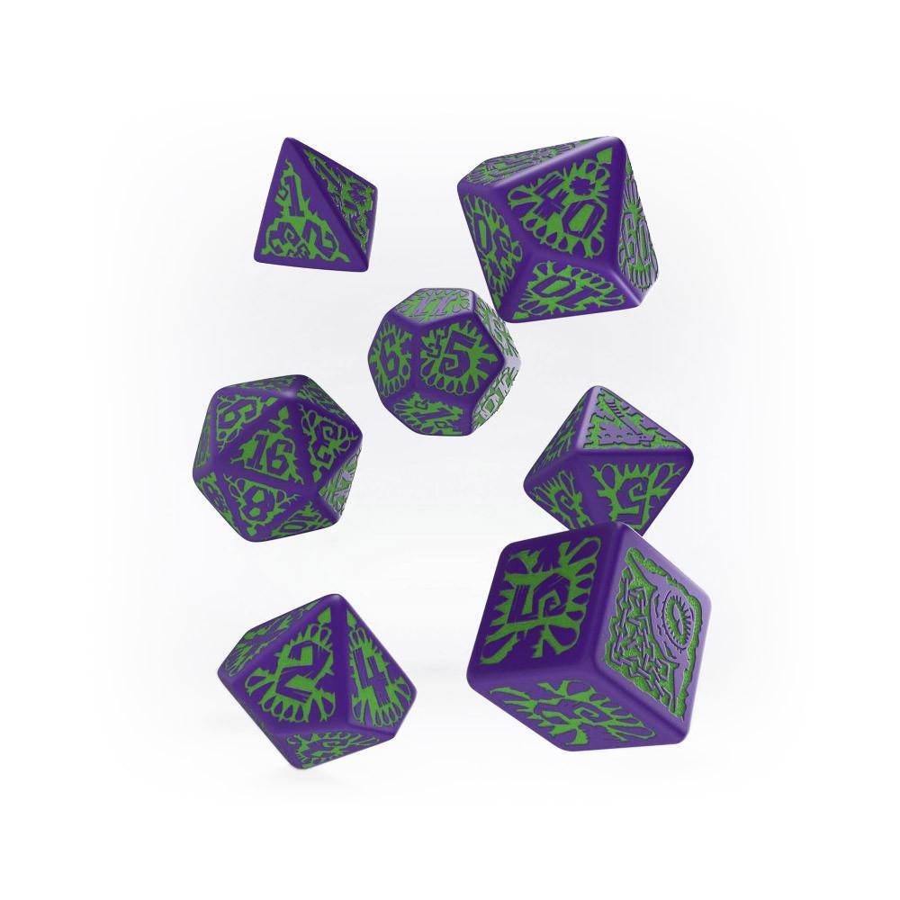 Pathfinder Goblin Purple & Green Dice Set - Imaginary Adventures
