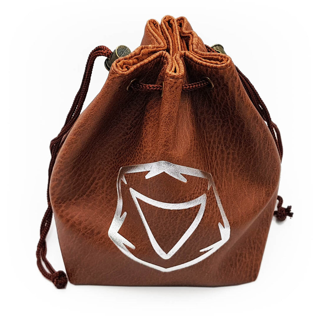 Leather Standing Dice Bag - Brown - Imaginary Adventures