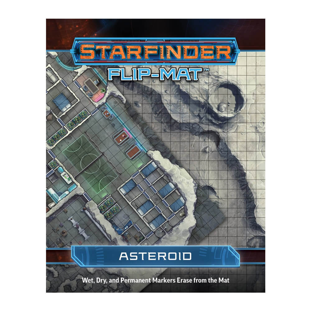 Starfinder Flip Mat Asteroid - Imaginary Adventures