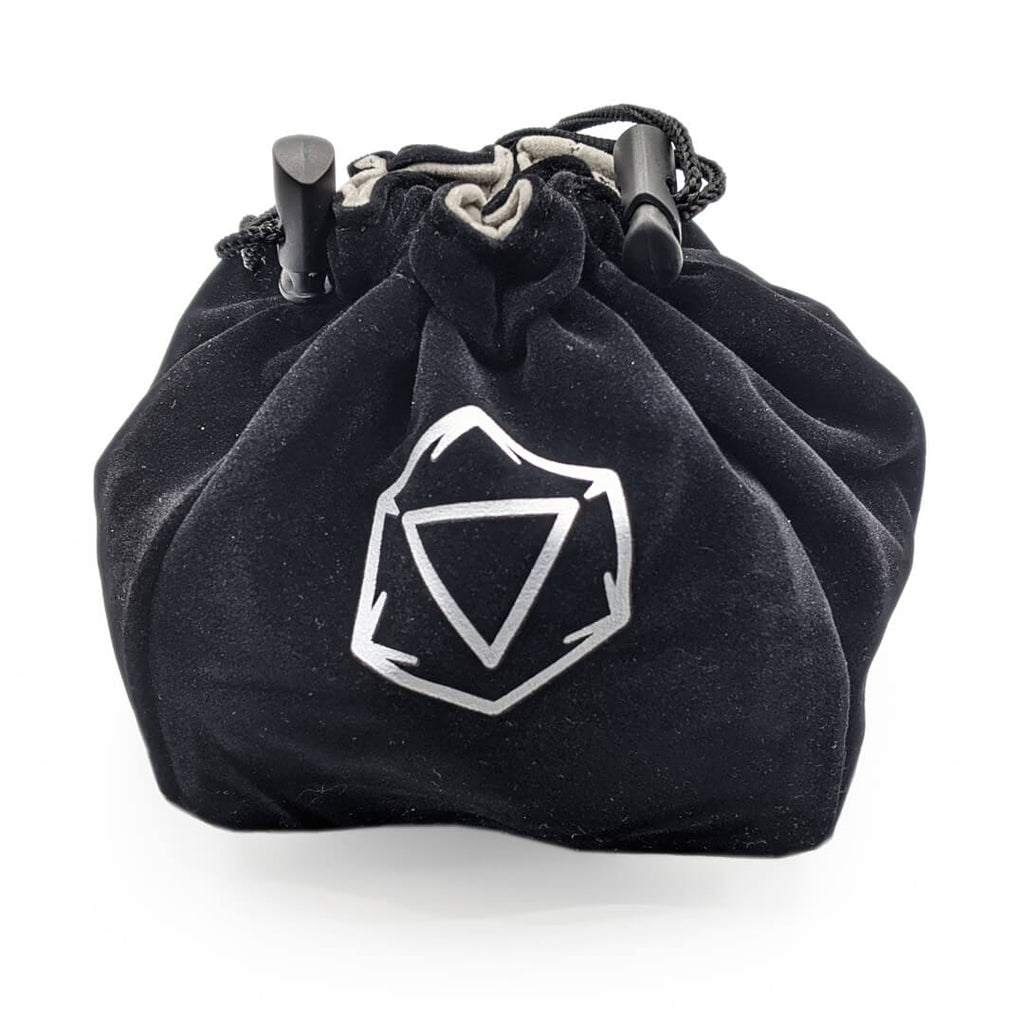 Velvet Standing Dice Bag - Black - Imaginary Adventures